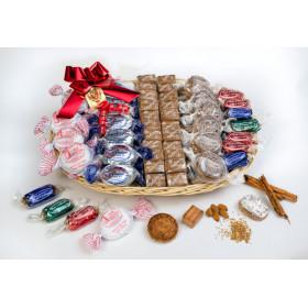 Cesta Géminis con dulces navideños tradicionales